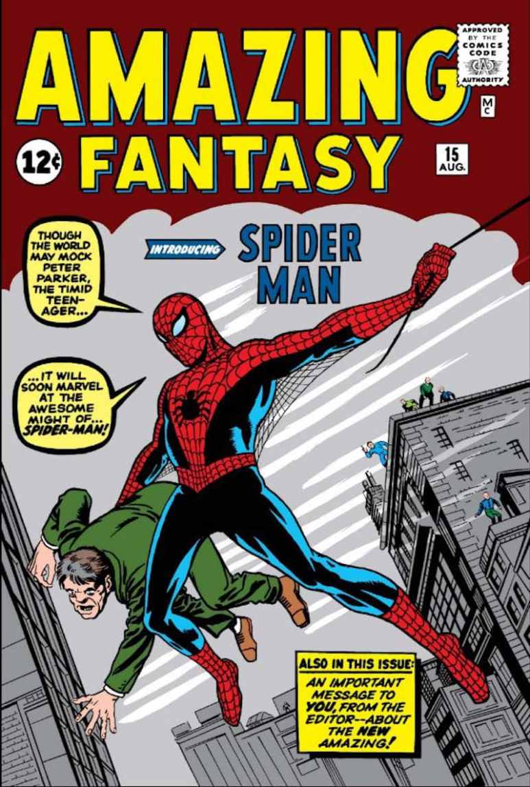 The cover of Amazing Fantasy #15