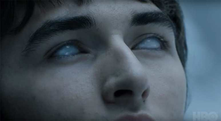 Bran greenseeing on Game of Thrones