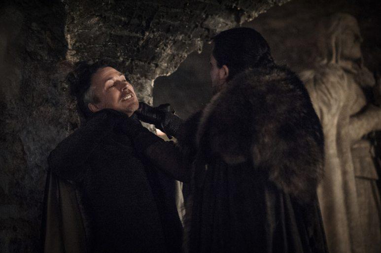 Aidan Gillen (Lord Petyr Baelish) and Kit Harington (Jon Snow)