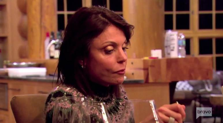 Bethenny Frankel during a dinner on The Real Housewives of New York City