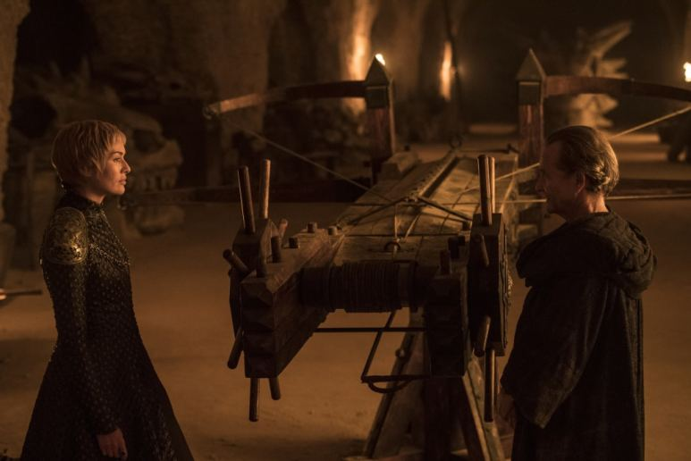 Lena Headey as Cersei, Anton Lesser as Qyburn