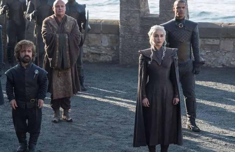 Daenerys Targaryen and Tyrion Lannister in Dragonstone