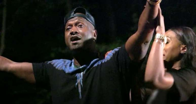 Kirk Frost shouts at the crew Love & Hip Hop Atlanta finale