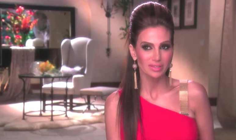 Peggy Sulahian talking to the camera on The Real Housewives of Orange County
