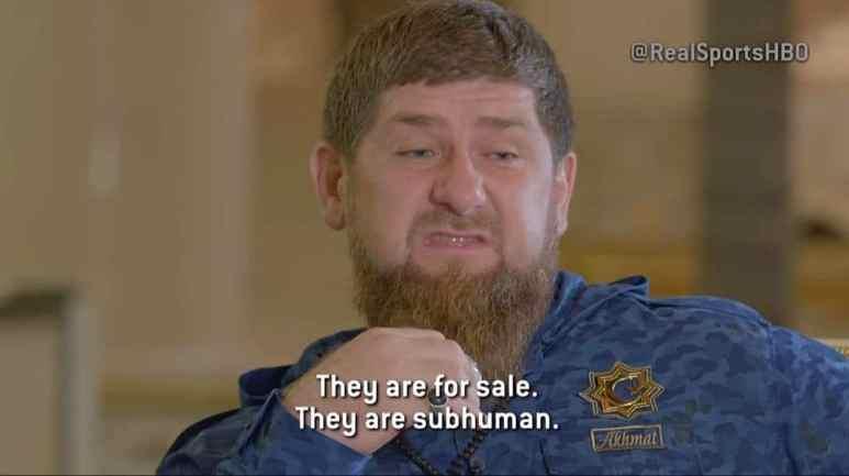Ramzan Kadyrov, head of Russia's Chechen Republic, on HBO's Real Sports