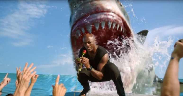 Seal being eaten by a shark in a Shark Week promo