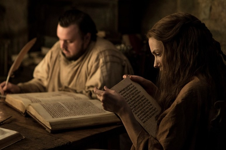Sam and Gilly on Game of Thrones