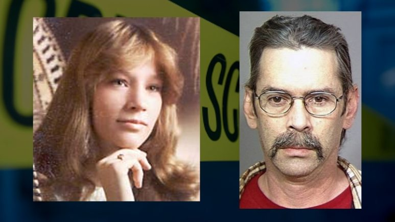Dena Raley-McCluskey and Russell Jones seen in a family photo and mug shot