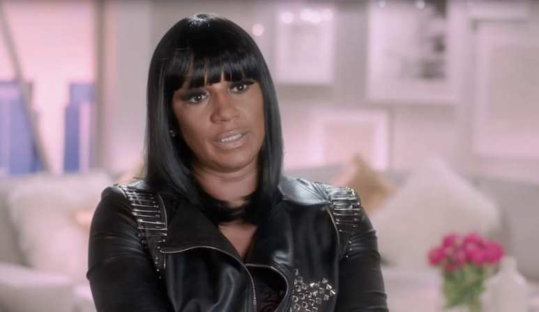 Jackie Christie speaking to the camera on Basketball Wives
