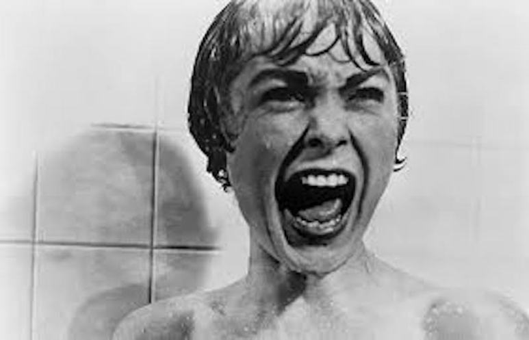 Janet Leigh screams in the shower in Psycho
