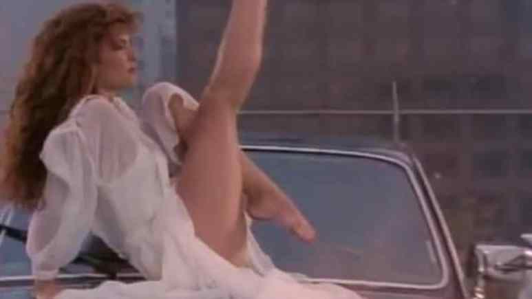 Tawny Kitaen seen in a music video for the band White Snake