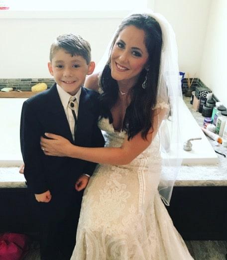 Jenelle Evans weddings with son Jace