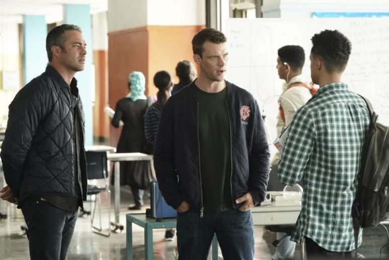 Taylor Kinney and Jesse Spencer in Chicago Fire