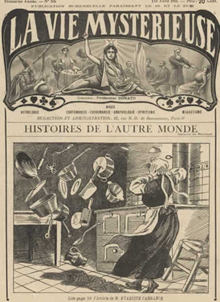 An old French magazine about poltergeist activity
