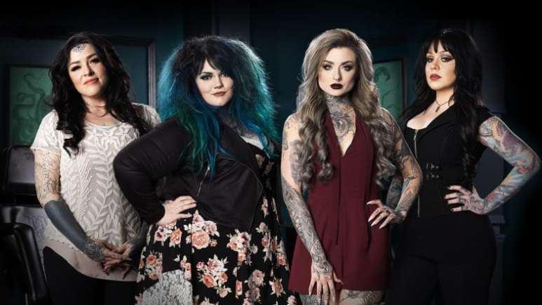 Ink Master: Angeles pose for a photoshoot