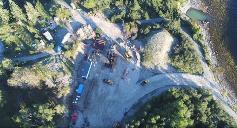 The Money Pit and Borehole 10 X from above