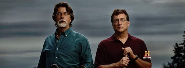 Oak Island original photo showing Rick and Marty Lagina