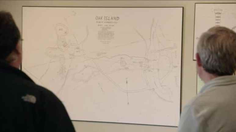 Map of Oak Island by Bobby Restall