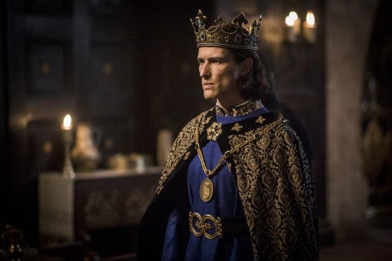 King Philip IV of France (Ed Stoppard) from Knightfall from HISTORY's New Drama Series Knightfall.