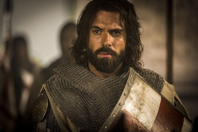 Templar Knight Landry (Tom Cullen) from HISTORY's New Drama Series Knightfall.