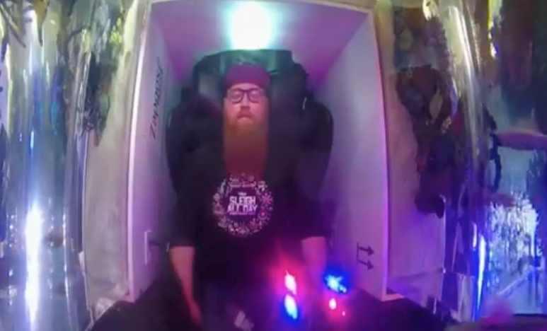 Tanked sleeping pod tank for Zappos