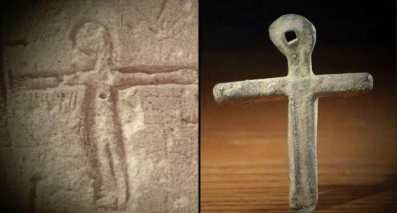 Oak Island cross and Templar prison carving