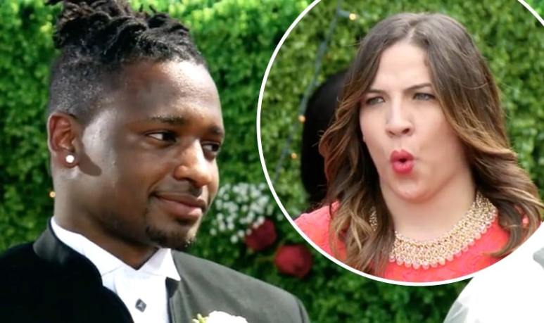 Jephte Pierre and a wedding guest on Married at First Sight