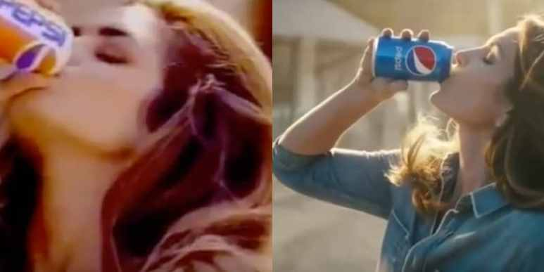 Cindy Crawford in Pepsi ads from 1992 and this year's Super Bowl slot