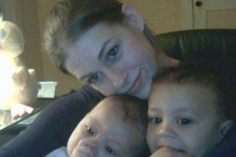 Laura Ackerson with her two young sons