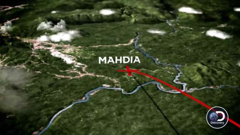 Map showing Mahdia on Parker's Trail Season 2