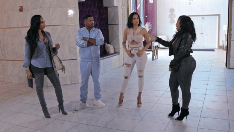 Just Brittany storms out after Keely shows up to a Stevie J meeting