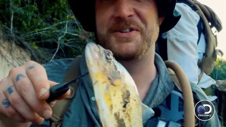 Rick Ness and piranha he caught