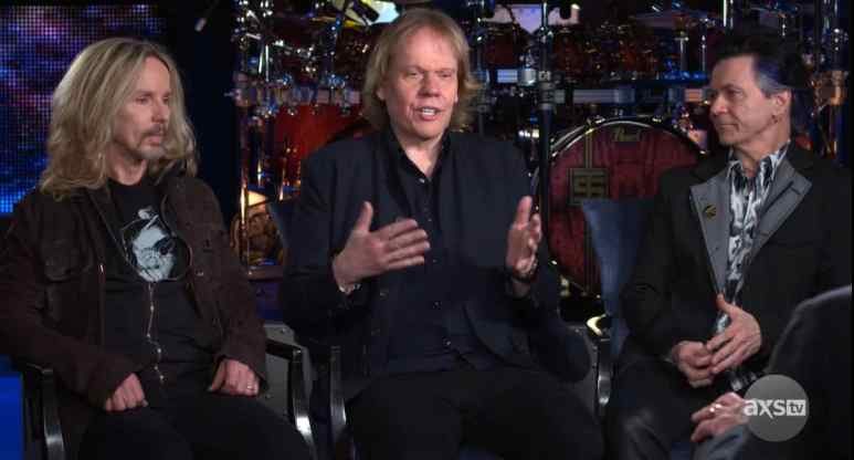 """Tommy Shaw, James """"JY"""" Young, and Lawrence Gowan"""