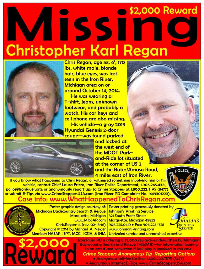 Christopher Regan missing poster