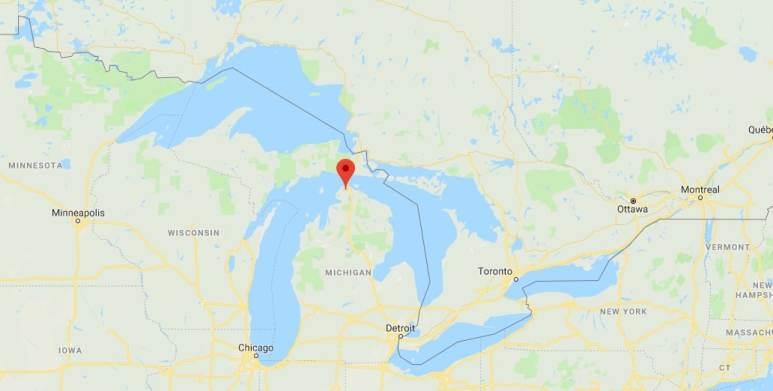 Levering, Michigan map murder