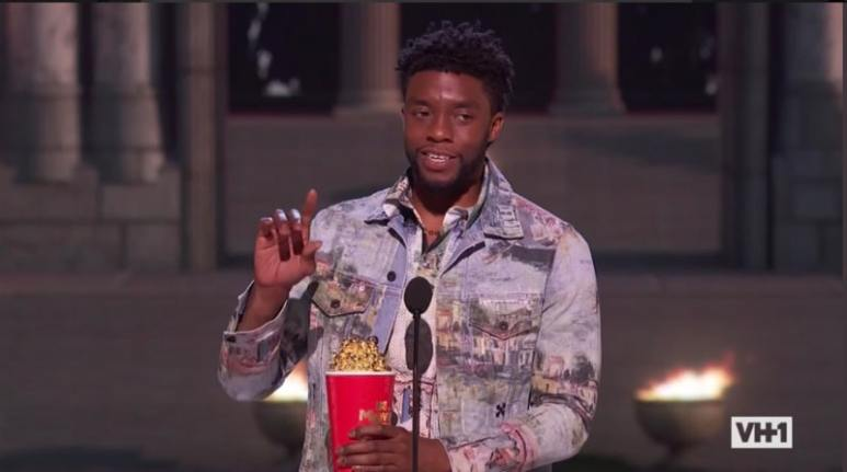 Chadwick Boseman won Best Hero and decided to honor a real life hero at the MTV Movie & TV Awards