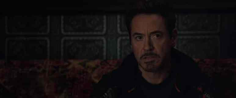 Robert Downey Jr as Iron Man in Avengers:Infinity War