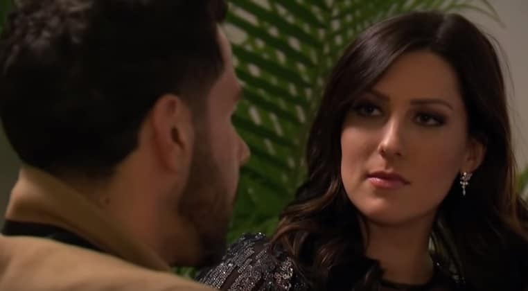 Becca and Chris during July 2 episode of The Bachelorette