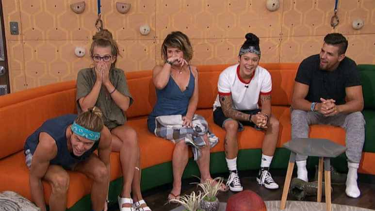 Big Brother players in main lounge