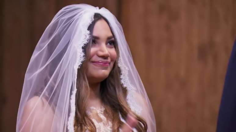 Mia Bally at her wedding on Married at First Sight