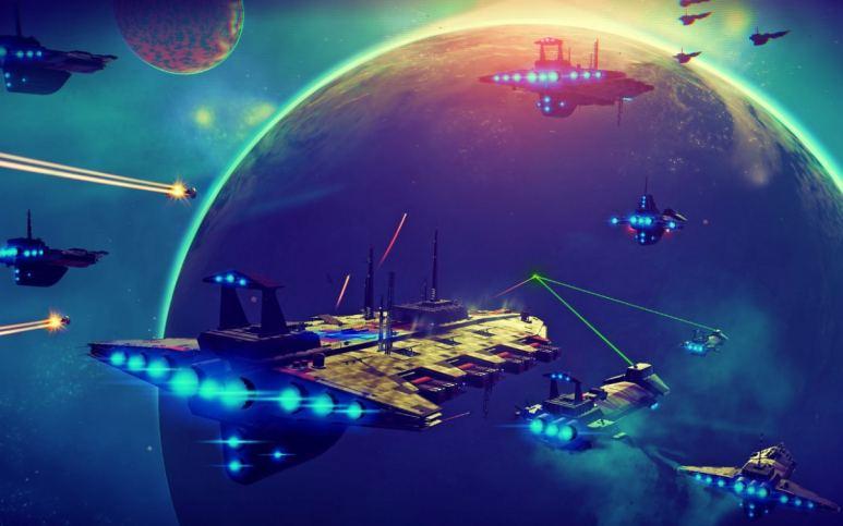 No Man's Sky fleet battle