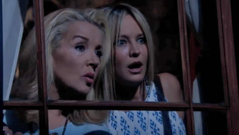 Sharon (Sharon Case) and Nikki (Melody Thomas Scott) on The Young and the Restless