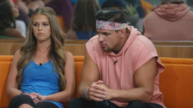 Haleigh and Faysal on the Big Brother couch