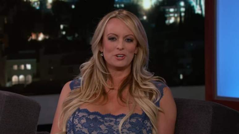 Stormy Daniels during an appearance on Jimmy Kimmel Live