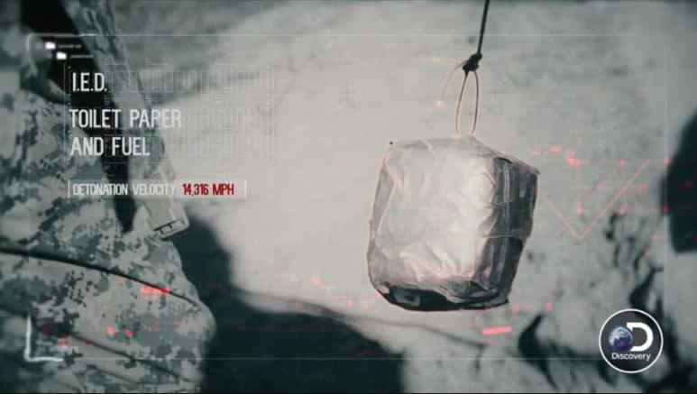 Looks like old food takeout trash, but can kill you, the new IED bombs are very dangerous
