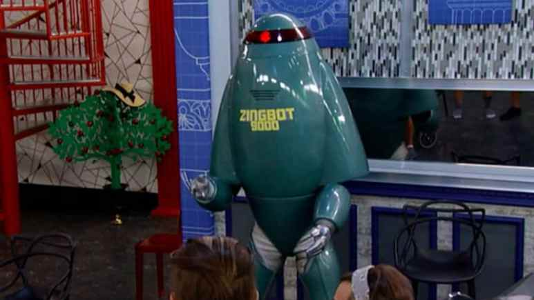 Zingbot in the Big Brother house