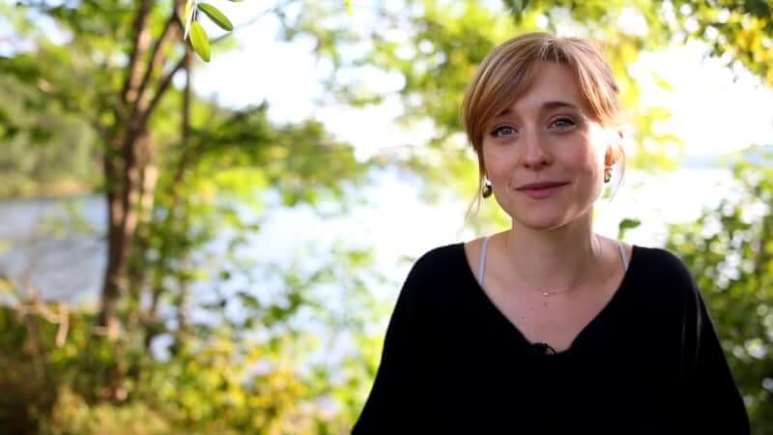 Allison Mack speaking about cult involvement in a recruitment video