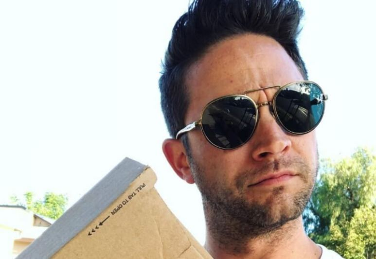 Brandon Barash shares a picture of himself receiving a package on Instagram
