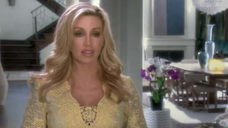 Camille Grammer in the confessional on The Real Housewives of Beverly Hills