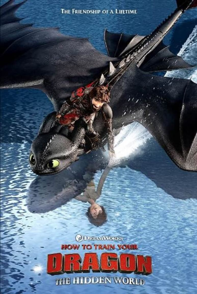 How to Train Your Dragon 3: Hiccup and his Night Fury dragon friend Toothless